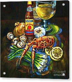 Crawfish Fixin's Acrylic Print by Dianne Parks