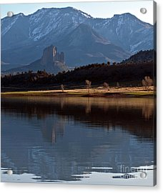 Acrylic Print featuring the photograph Crawford Reservoir And Needlrock by Eric Rundle