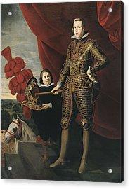 Crayer, Gaspar De 1584-1669. Portrait Acrylic Print