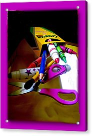 Crayola Factory Easton Pa Acrylic Print by Jacqueline M Lewis