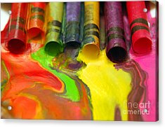 Crayon Cooperation Acrylic Print by Margie Chapman