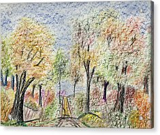Crayon Road Acrylic Print