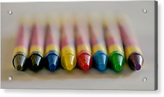Acrylic Print featuring the photograph Crayons by Robert  Aycock