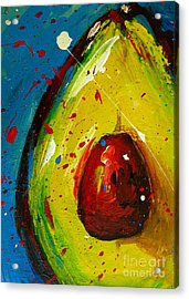 Crazy Avocado 4 - Modern Art Acrylic Print