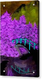 Crazy Exposure Bridge Over Frozen Water Acrylic Print