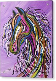 Acrylic Print featuring the painting Crazy Horse by Janice Rae Pariza