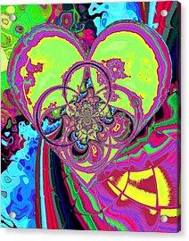 Crazy Love Acrylic Print by Wendy J St Christopher