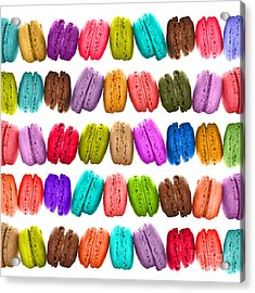 Crazy Macarons  Acrylic Print by Delphimages Photo Creations