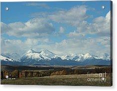 Crazy Mountains 1 Acrylic Print by Brenda Henley
