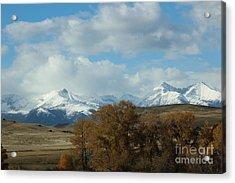 Crazy Mountains 3 Acrylic Print by Brenda Henley