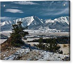 Crazy Mountains Montana Acrylic Print by Leland D Howard