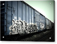 Crazy Train Acrylic Print by Amanda St Germain