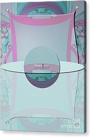 Cream Mint Labelle Acrylic Print