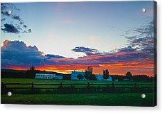 Creamer's Diary Sunrise Fairbanks Alaska Acrylic Print