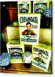 Creamoata - Cream  O' The Oat Acrylic Print by Steve Taylor