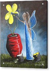 Creating Tomorrow Fairy By Shawna Erback Acrylic Print by Shawna Erback