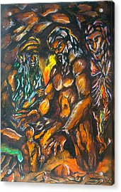 Acrylic Print featuring the pastel Creation Creacion by Lazaro Hurtado