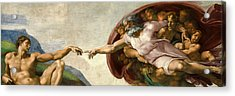 Creation Acrylic Print by Michelangelo
