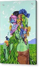Creation Of Eve Acrylic Print by Charles Luna