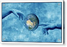 Creation Of The Earth Acrylic Print by Detlev Van Ravenswaay