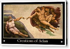 Acrylic Print featuring the digital art Creations Of Adam by Scott Ross