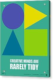 Creative Minds Poster Acrylic Print by Naxart Studio