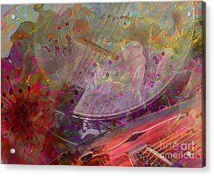 Creative Sounds Digital Banjo And Guitar Art By Steven Langston Acrylic Print by Steven Lebron Langston
