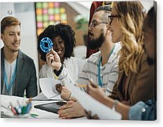 Creative Start-up Business Team Brainstorming. Acrylic Print by Vgajic