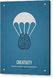 Creativity Acrylic Print by Aged Pixel