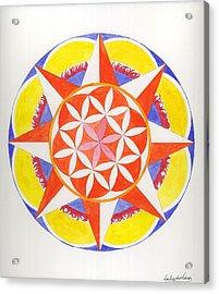 Creativity Mandala Acrylic Print by Silvia Justo Fernandez