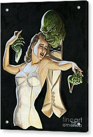 Creature From The Black Tie Lagoon Acrylic Print