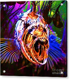 Creatures Of The Deep - Fear No Fish 5d24799 Square V2 Acrylic Print by Wingsdomain Art and Photography