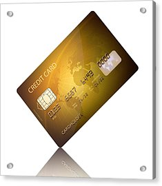 Credit Card Acrylic Print by Johan Swanepoel
