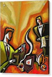 Credit Card Acrylic Print by Leon Zernitsky