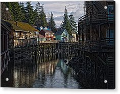 Acrylic Print featuring the photograph Creek St. Ketchikan Alaska by Timothy Latta