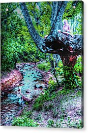 Acrylic Print featuring the photograph Creek Time Enchantment by Lanita Williams