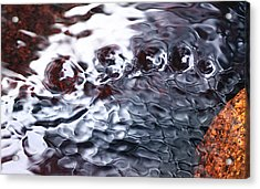 Creek Twirls Abstract Macro Acrylic Print
