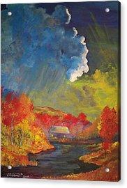 Creekside Home Acrylic Print