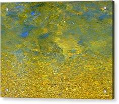 Creekwater Abstract Acrylic Print by Deborah  Crew-Johnson