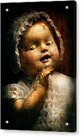 Creepy - Doll - Come Play With Me Acrylic Print by Mike Savad