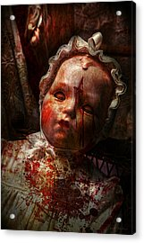 Creepy - Doll - It's Best To Let Them Sleep  Acrylic Print by Mike Savad
