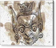 Creepy Mask Acrylic Print by Alice Gipson