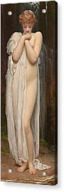 Crenaia The Nymph Of The Dargle Acrylic Print by Frederic Leighton