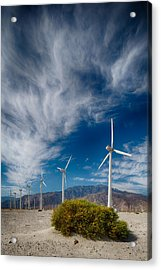 Creosote And Wind Turbines Acrylic Print