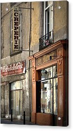 Creperie In Clermont Ferrand France Acrylic Print by Georgia Fowler