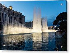 Crescendo - The Glorious Fountains At Bellagio Las Vegas Acrylic Print by Georgia Mizuleva