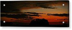 Crescent At Sunset Acrylic Print