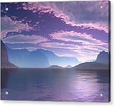 Crescent Bay Alien Landscape Acrylic Print