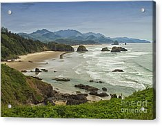 Crescent Beach Oregon Acrylic Print by Carrie Cranwill