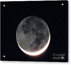 Crescent Moon In Winter Acrylic Print